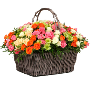 """Цветы в корзинке """"Встреча весны"""""""